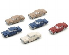 N Gauge 80' Era Toyota Sedans (6) - 381-2500