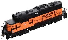 HO Gauge Trainline EMD GP9M Milwaukee Road #974 Standard DC - 931-111