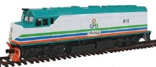 HO Gauge EMD F40PH Standard DC South Florida Regional Transportation Authority Tri-Rail TRCX #810 - 931-404