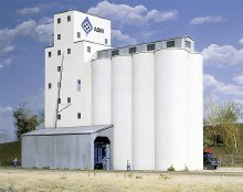 HO Gauge ADM(R) Concrete Grain Elevator Plastic Kit - 933-3022