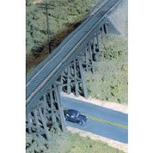 HO Gauge Cornerstone Trestle with Deck Girder Bridge Plastic Kit - 933-3147