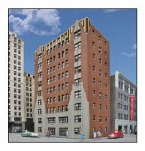 HO Gauge City Apartment Background Building Plastic Kit - 933-3770