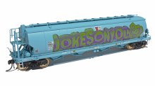 HO Gauge AWB Faded Dark Blue WGBY Grain Hoppers 3 Pack - WGB06