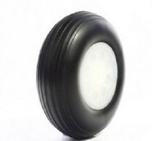 "Polyurethane Treaded Lightweight Wheel 3.5"" - WH350-L"