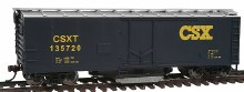 HO Scale 40' Plug-Door Track Cleaning Boxcar CSX Transportation #135720 - 931-1754