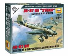 1:144 Scale German Dive Bomber JU-87 B2 Stuka Snap Fit - 6123