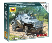 1:100 Scale German Light Armored Car Sd.Kfz.222 Snap Fit - 6157