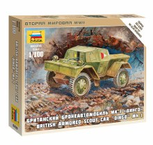 1:100 Scale British Armored Scout Car Dingo MK.1 Snap Fit - ZV6229