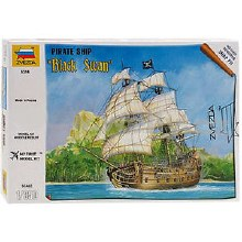1:350 Scale Pirate Ship Black Swan Snap Fit - 6514