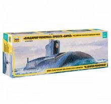 1:350 Scale Borey-Class Russian Nuclear Ballistic Submarine Vladimir Monomakh - ZV9058