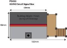METCALFE PO430 OO//HO SCALE Small Signal Box Card Kit