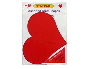 HEARTS LARGE RED CARD 5 PACK