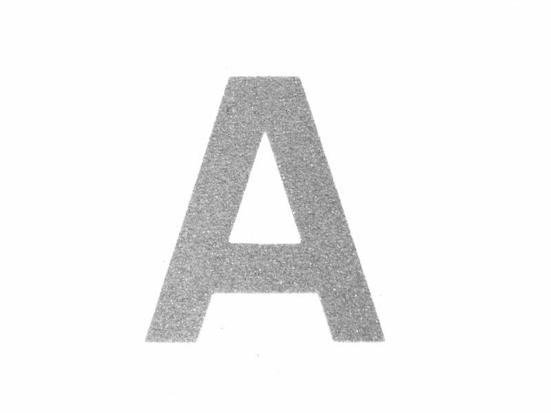 Self adhesive glitter foam alphabet letters 2 inch lollipop font 4 letters