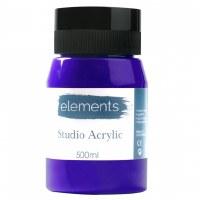 ACRYLIC 500ML ELEMENT ULT.BLUE