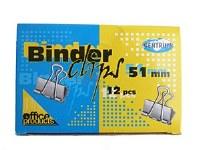 BINDER CLIPS 51MM 12PCS
