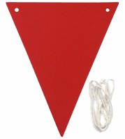 BUNTING RED CARD 15 PER PACK