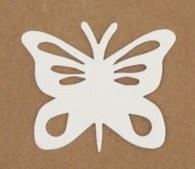 BUTTERFLY SHAPE WHITE CARD15PK