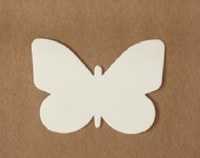 BUTTERFLY WHITE CARD 15PK