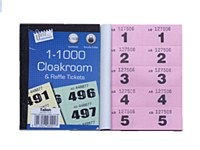 CLOAKROOM TICKETS 1-1000 PINK