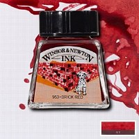DRAWING INK BRICK RED 14ML