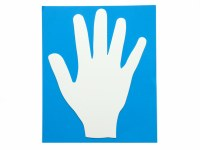 HAND SHAPE 12PK LARGE CARD