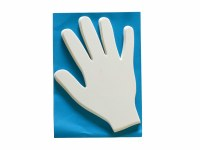 HAND SHAPE 20PK WHITE CARD