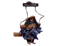 HANGING WELCOME WITCH