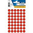 HERMA LABELS ROUND RED 12mm