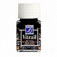 GLASS PAINT VITRAIL 50ML BROWN