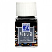 GLASS PAINT VITRAIL GREY 50ML