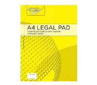LEGAL PAD YELLOW SPIRAL A4
