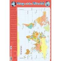 MAP OF WORLD WALL CHART