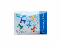 MAP PINS ASSORTED COLOUR 36PK