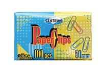 PAPER CLIPS ASSTD COLOURS 50mm