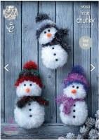 PATTERN TINSEL CHUNKY SNOWMAN