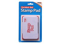 STAMP PAD RED PRE-INKED