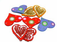 WOODEN HEARTS 8 PER PACK
