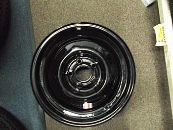 15X6 Pln 5H 4.5 Blk Wheel