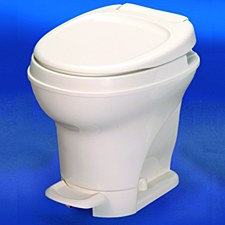 Aqua Magic V High Profile Foot Flush Toilet Parchmant