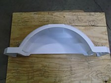 Large White Plastic Fender
