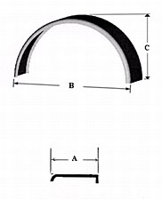 Single Rnd Fender-6-1/2 X 25