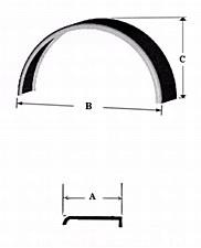 Single Round Fender-9 X 32