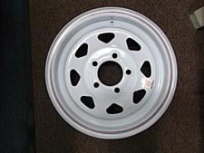 White Spoke Wheel 5 Hole 14