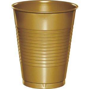 Plastic 16oz Cup Glittering Gold