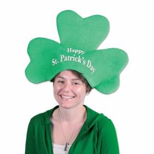 Plush St Patrick's Day Shamrock Hat