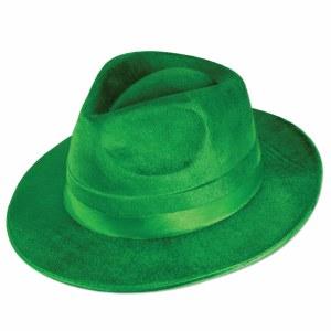 Green Dura Form Vel Felt Fedora