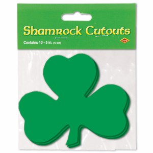 Shamrock Cutouts 5in