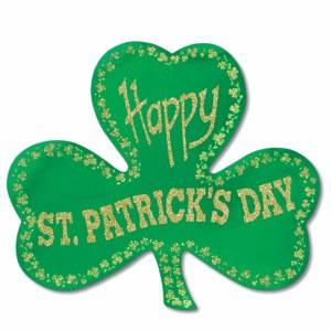 Happy Saint Patrick's Day Shamrock Cutout
