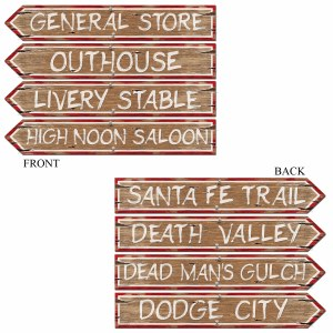 Western Theme Signs