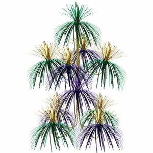 Purple Green and Gold Firework Chandelier